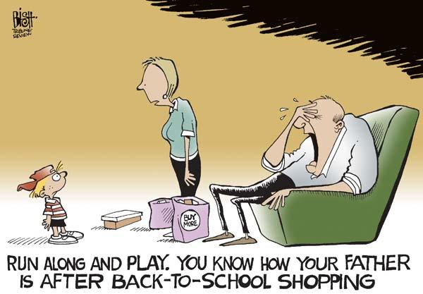 «Беги поиграй. Ты же знаешь, как себя чувствует папа после закупок в школу»