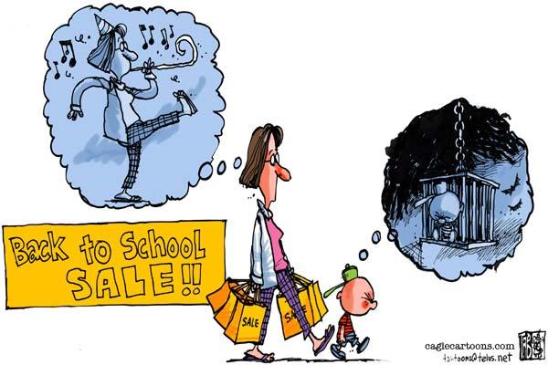 Сборы в школу: детки в клетке