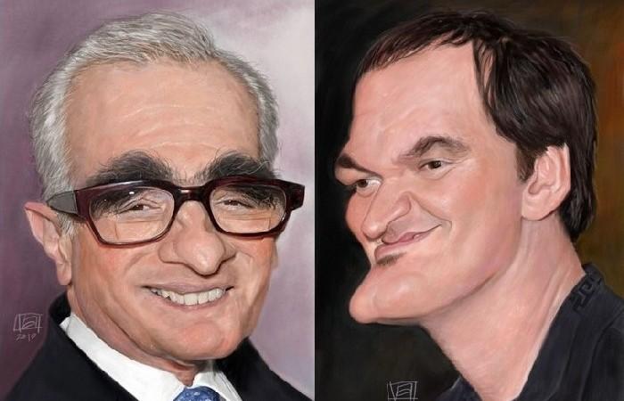 Смешные портреты знаменитостей: Мартин Скорсезе, Квентин Тарантино