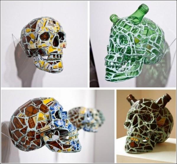Искусство мозаики Андреса Басурто: черепа из черепков