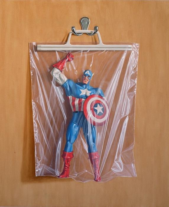 Капитан Америка: фотореалистичная живопись Саймона Монка