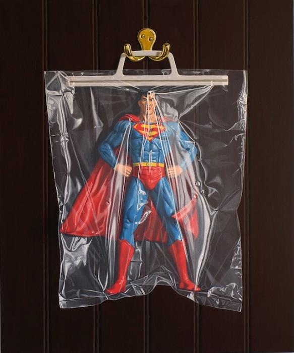 Бесполезный Супермен: фотореалистичная живопись Саймона Монка