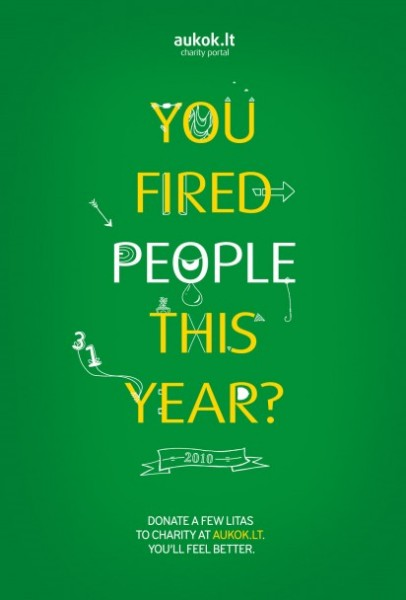 Честная реклама благотворительного сайта: «В этом году вы увольняли людей?»
