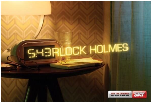 Креативная реклама телеканала: «Шерлок Холмс»