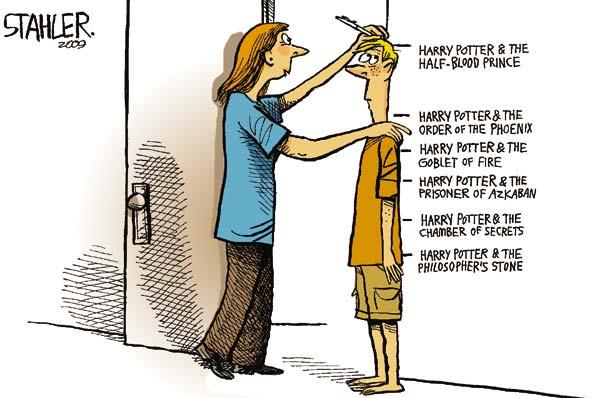 Гарри Поттер и художники-карикатуристы: не по дням, а по частям