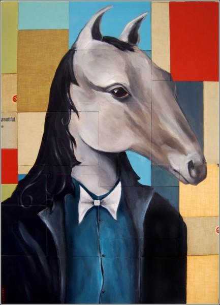 Майк Стилки связывает образы лошадей в своих работах с воспоминаниями об отце-ковбое