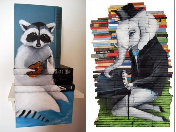 Рисунки на книгах: меланхоличные животные Майка Стилки