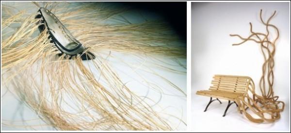 Как по-вашему: лавочка наполовину заплетена или расплетена?