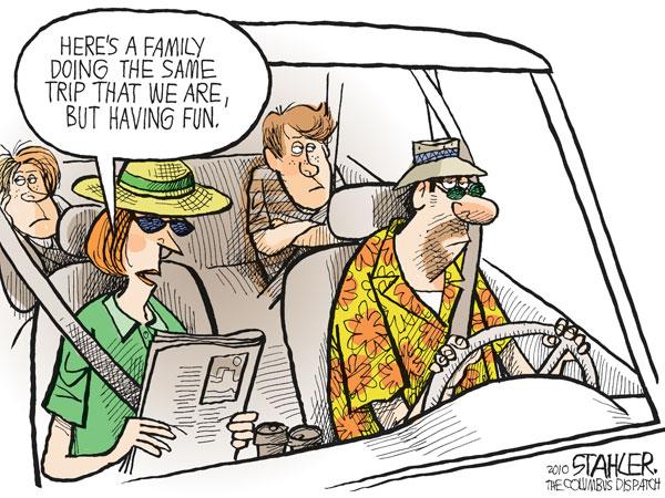 Пора в отпуск: *А здесь семья точно так же, как и мы, едет отдыхать, но получает удовольствие*
