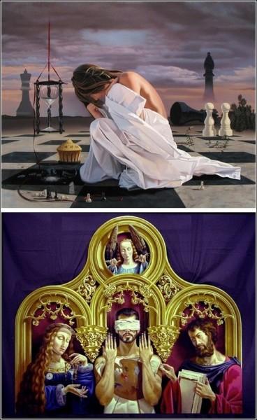 Сюрреалистический мир Джеффри Бэтчелора: шахматы, марионетки и песочные часы