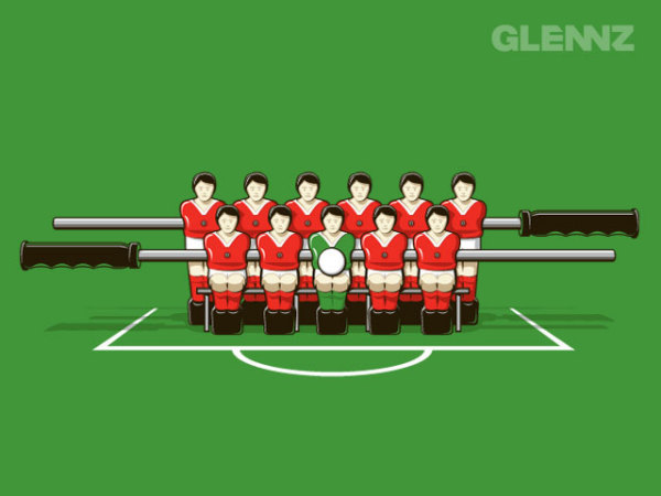 Веселые рисунки Гленна Джонса: командное фото