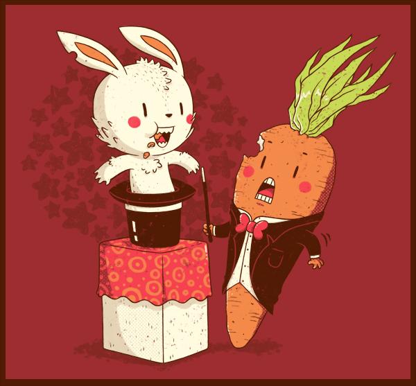 Юмористические рисунки Майкла Биспарулца: *Худшая работа для морковки*