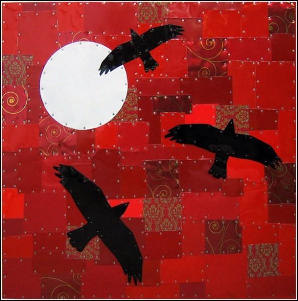 Мозаичные картины Майкла Свира: жестяной закат