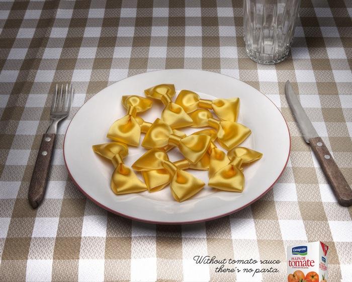 Красиво, но несъедобно: оригинальная реклама томатного соуса