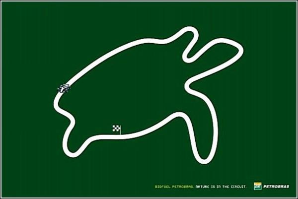 Во всех смыслах зеленая реклама биотоплива: черепаха