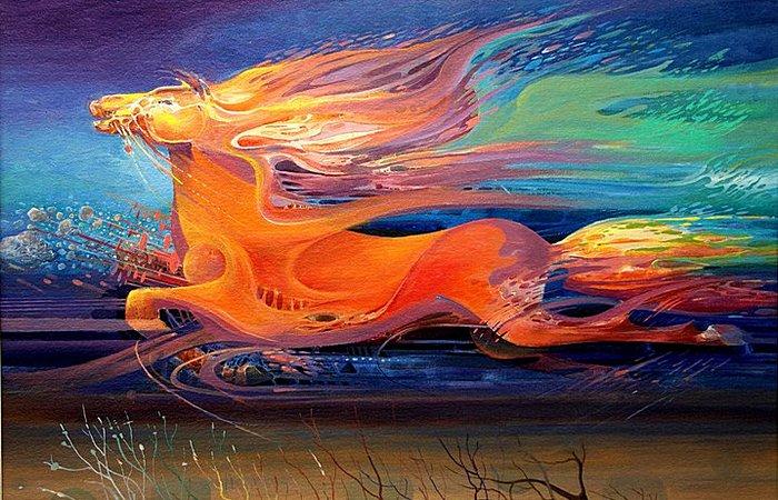 Конь-огонь: масляная живопись Васко Ташковского
