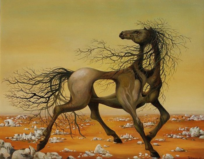Деревянный конь: масляная живопись Васко Ташковского