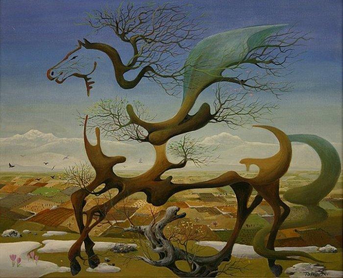 Конь-невидимка: масляная живопись Васко Ташковского