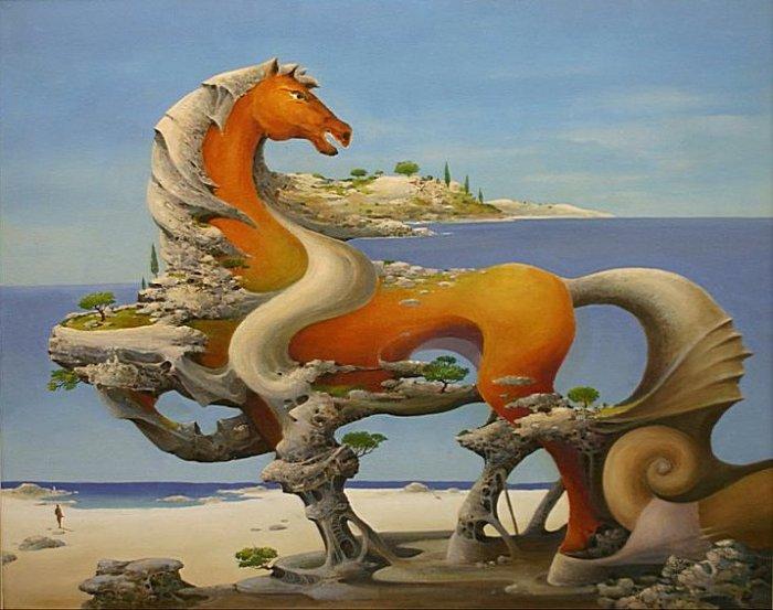 Чудо-юдо-конь: масляная живопись Васко Ташковского