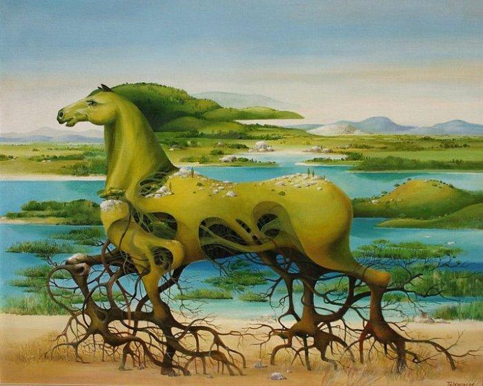 Пейзаж, нарисованный конем: масляная живопись Васко Ташковского