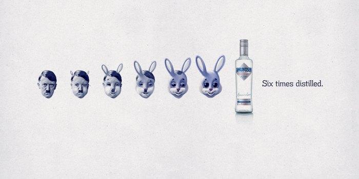 Гитлер-зайка: креативная реклама водки