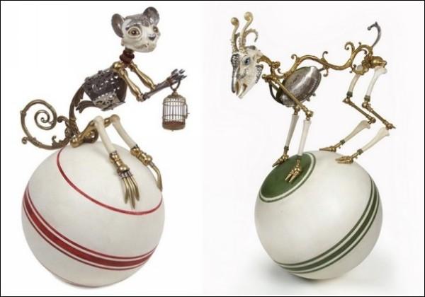 Странные животные Джессики Джослин: цирковые акробаты