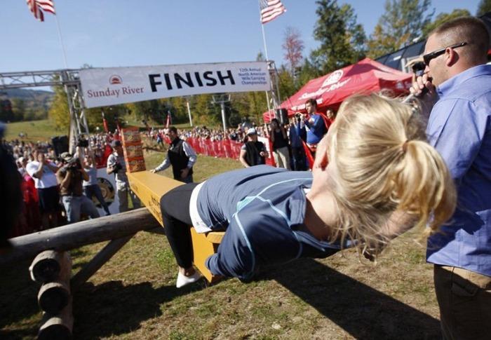 Взвешивание пива и победительницы забега