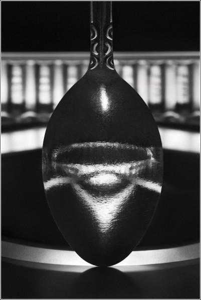 Черно-белые снимки Вильяма Кастелланы: отражение в ложке
