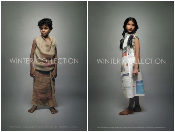 «Зимняя коллекция»: оригинальная реклама гуманитарной миссии