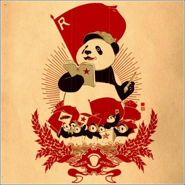 Революционные красные панды: пародийные плакаты Вильяма Чуа
