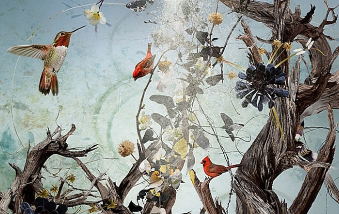 Птички божии: живописные фотокомпозиции Изабел Лемэй