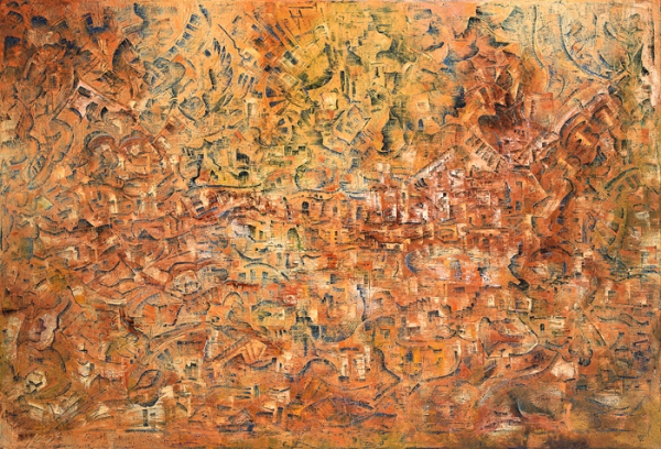 Николай Чередниченко, Свиток, 1997, 100х140, масло/холст