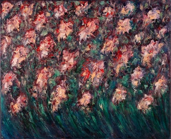 Николай Чередниченко, Цветы, 2007, 90х110, холст/масло