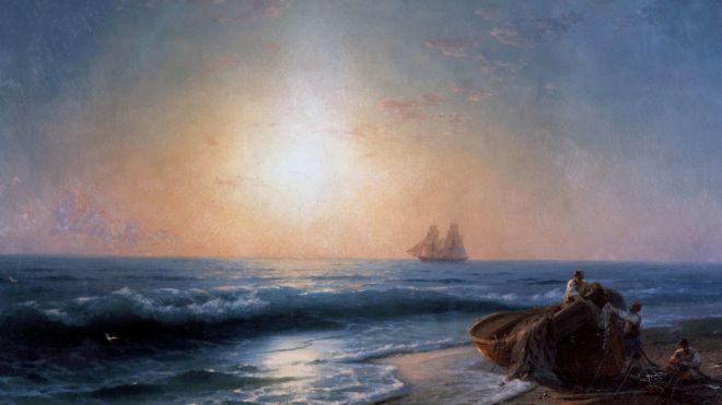 Появились подробности о картинах Айвазовского на затонувшем пароходе