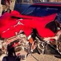 На съемках клипа Валерии произошло ДТП: разбили Ferrari, водитель не пострадал