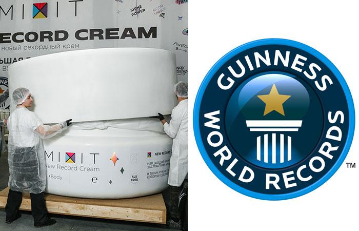 В Подмосковье создали самую большую банку косметического крема в мире
