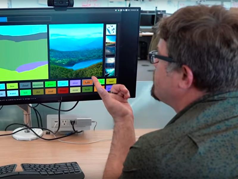 Нейросеть Nvidia поможет каждому стать художником-пейзажистом