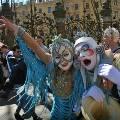 В Санкт-Петербурге разогнали театральное шествие Cirque du Soleil