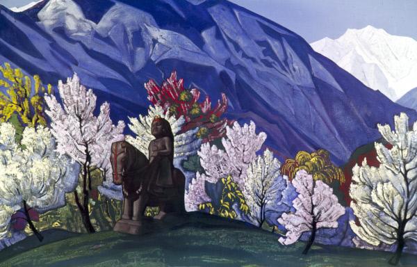Выставка рисунков Елены Рерих впервые открылась для публики в Индии в долине Кулу