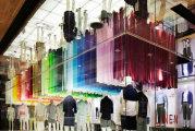 Colorful wind («Красочный ветер») - любопытная инсталляция в одном из токийских магазинов