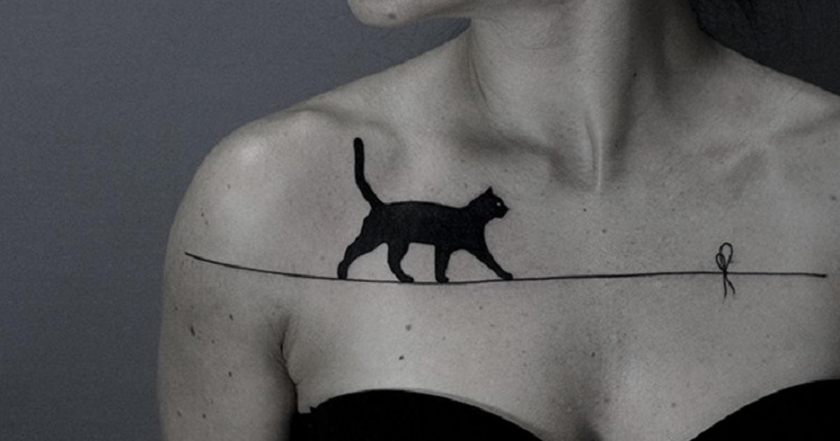 Тату кошек — 168 лучших фото татуировок 2019  года