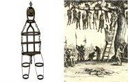 Ужасающая средневековая практика подвешивания в клетке