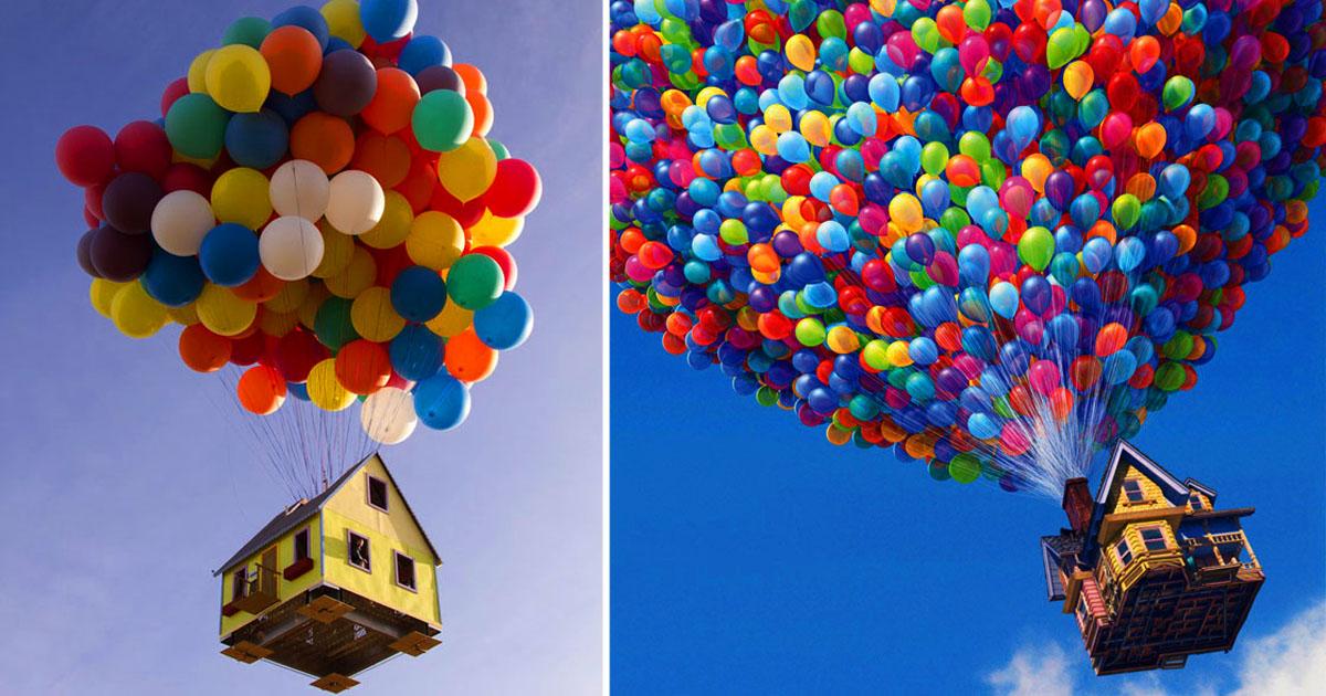 Мультфильм вверх картинки шары