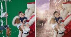 «Рождественская мечта»: щемящая фотосессия для детей в больнице