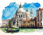 Акварельные путешествия: художник рисует города, в которых мечтает побывать