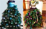 Ёлка в платье: 14 оригинальных новогодних идей для бесшабашного праздника