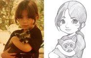 Художник превращает людей с фотографий в персонажей аниме