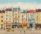 «Наивный» Париж: атмосферные картины Мишеля Делакруа