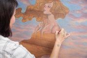 Нежные красавицы с немым вопросом в глазах: яркие картины на деревянных дощечках