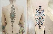 Геометрические тату Брайан Гомеша по мотивам рисунков на телах племенные народов Амазонки
